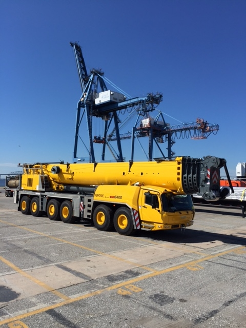 Yellow Crane Provided by Crane Rental Services
